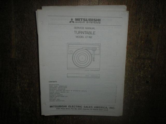 LT-162 Turntable Service Manual