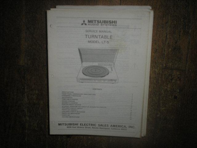 LT-5 Turntable Service Manual