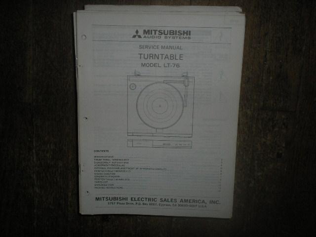 LT-76 Turntable Service Manual