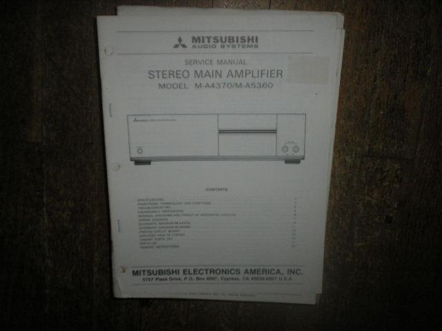 M-A4370 M-A5360 Amplifier Service Manual
