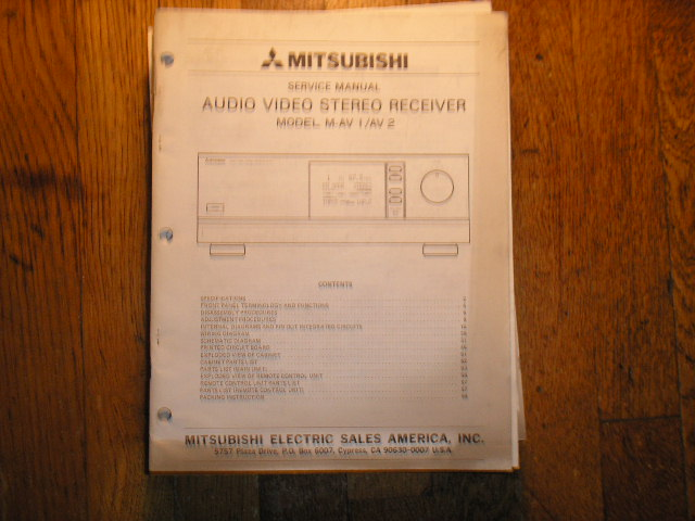 M-AV1 M-AV2  AUDIO VIDEO RECEIVER Service Manual  MITSUBISHI
