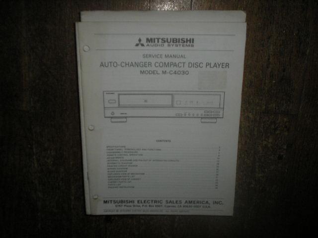 M-C4030 CD Player Service Manual
