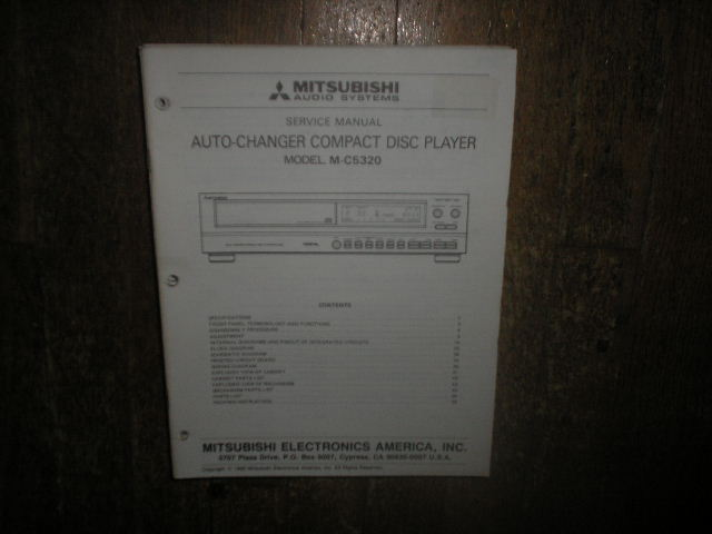 M-C5320 CD Player Service Manual