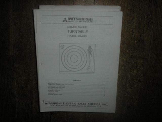 M-L2200 Turntable Service Manual