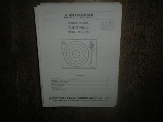 M-L3320 Turntable Service Manual