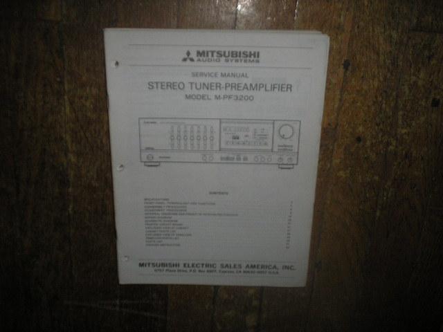 M-PF3200 Tuner Pre-Amplifier Service Manual