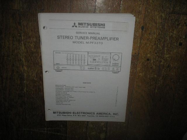 M-PF3370 Tuner Pre-Amplifier  Service Manual