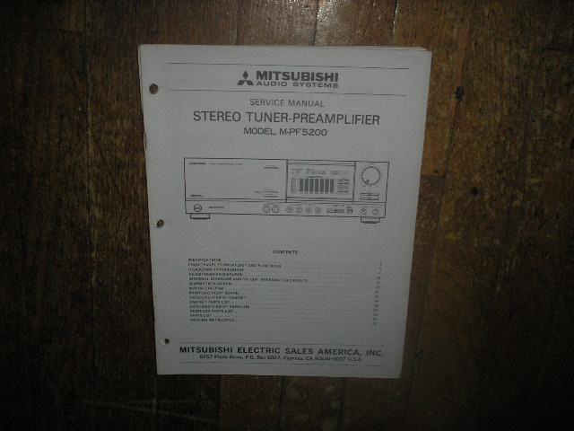 M-PF5200 Tuner Pre-Amplifier  Service Manual
