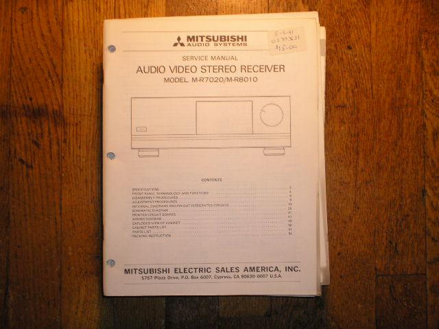 M-R7020 M-R8010 Audio Video Receiver Service Manual