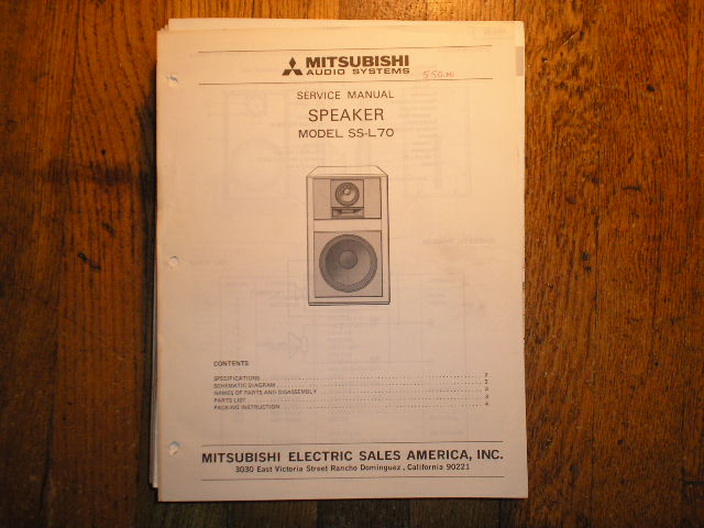 SS-L70 SPEAKER  Service Manual