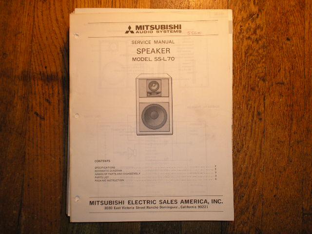 SS-L70 Speaker Service Manual