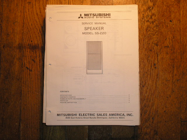 SS-Z20 SPEAKER  Service Manual
