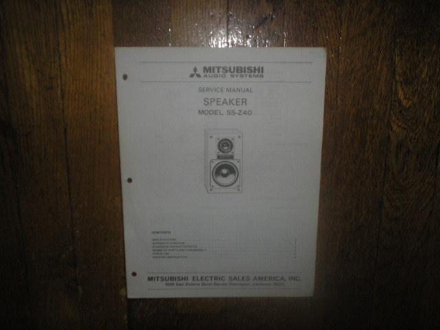 SS-Z40 Speaker Service Manual