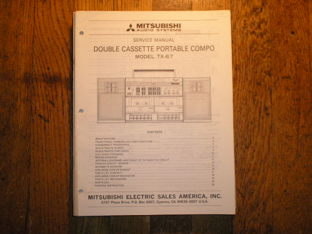 TX-67 Cassette Deck Radio Service Manual  sm6053
