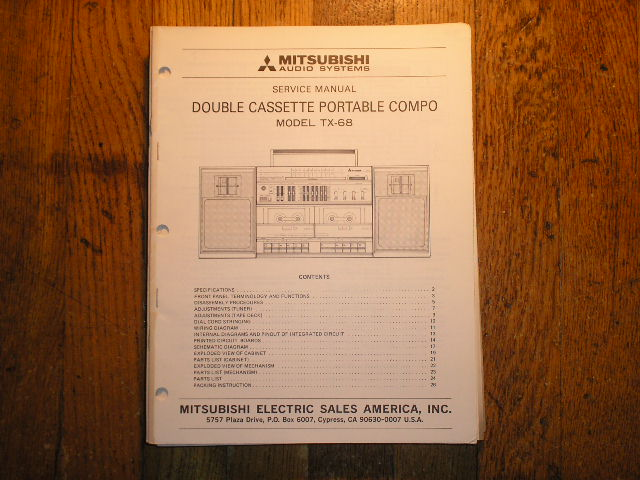 TX-68 Cassette Deck RADIO Service Manual
