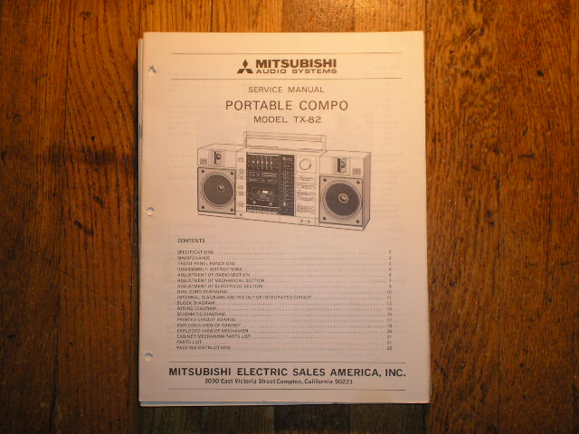 TX-82 Cassette Deck RADIO Service Manual