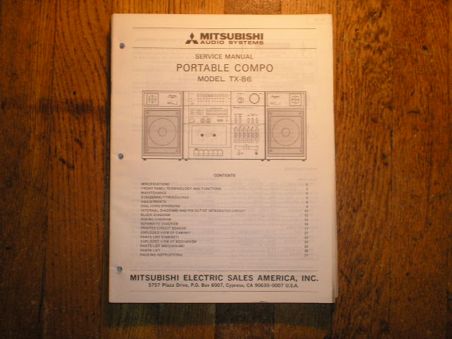TX-86 Cassette Deck Radio Service Manual  lsm5011