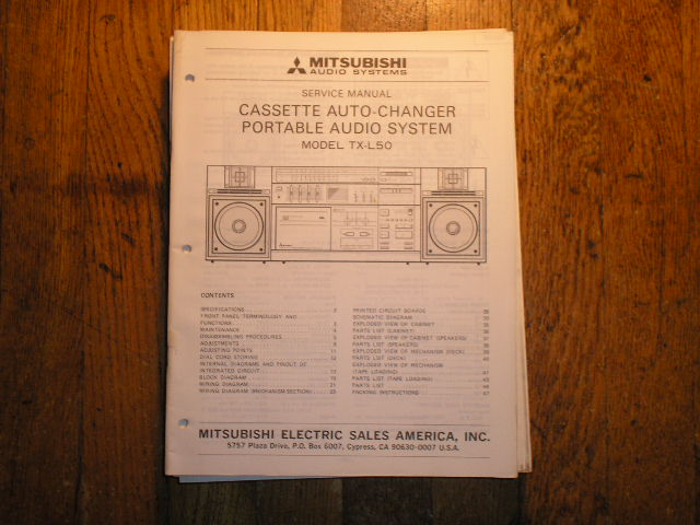 TX-L50 Cassette Deck RADIO Service Manual