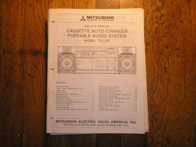 TX-L50 Cassette Deck Radio Service Manual  sm5039