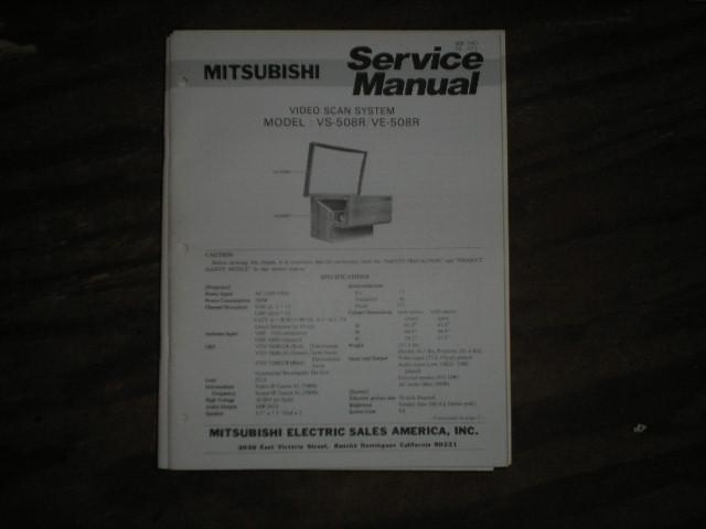 VE-503 VS-503 VE-508R VS-508R Projection Television Service Manual VS-023 VS-027