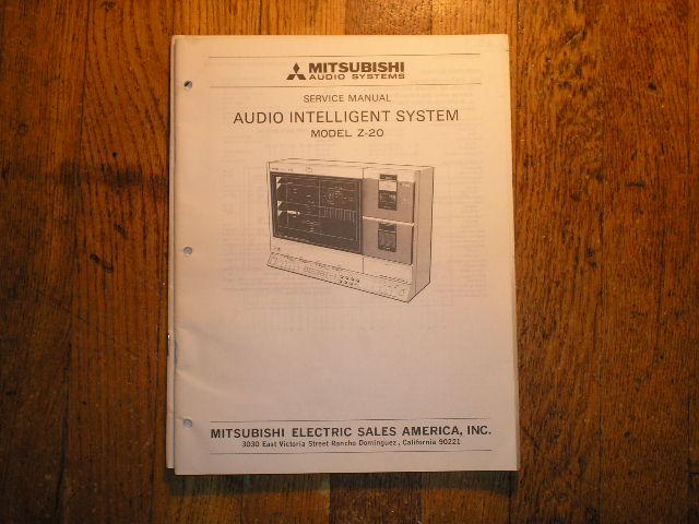 Z-20 INTELLIGENT AUDIO COMPONENT SYSTEM Service Manual