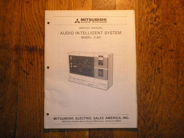 Z-40 INTELLIGENT AUDIO COMPONENT SYSTEM Service Manual  SM-3031