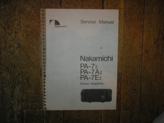 PA-7 II PA-7A II PA-7E II Amplifier Service Manual