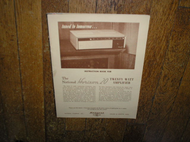 Horizon 20... 20 Watt Amplifier Service Manual