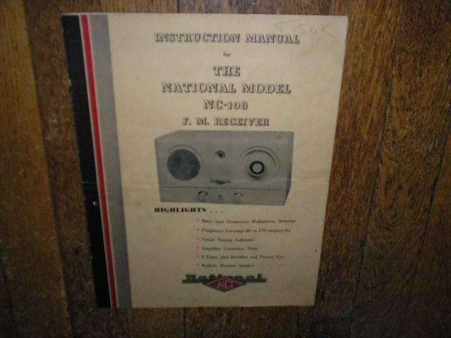 NC-108 FM Receiver Service Manual