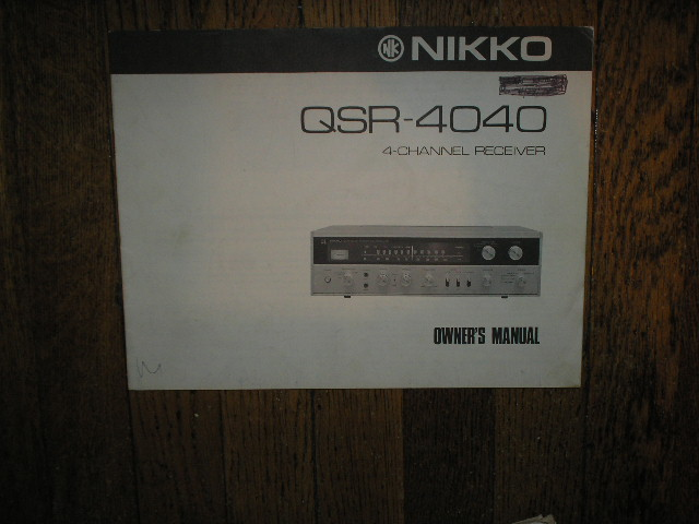 QSR-4040 AM FM STEREO RECEIVER Owners Manual  NIKKO