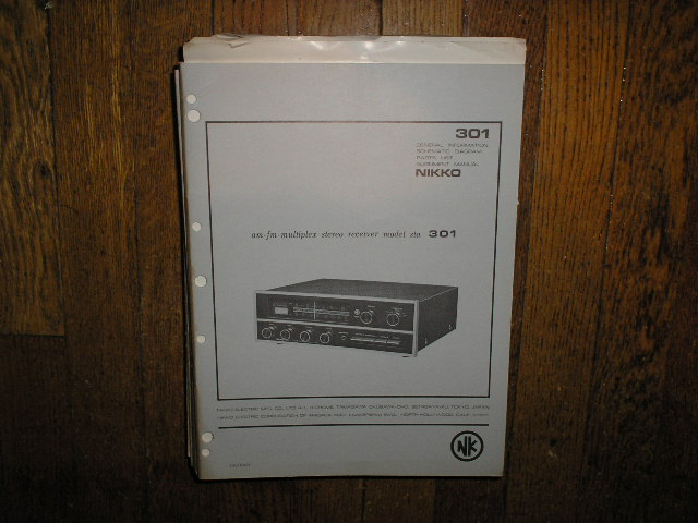 STA-301 AM FM STEREO RECEIVER Service Manual  NIKKO