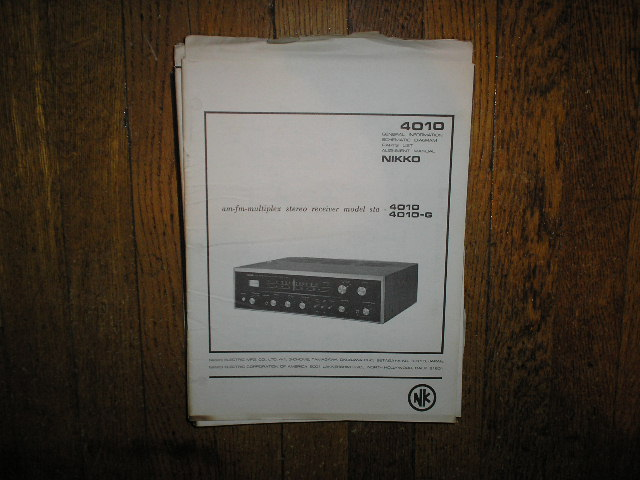 STA-4010 STA-4010-G AM FM STEREO RECEIVER Service Manual  NIKKO