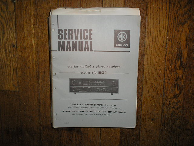 STA-501 AM FM STEREO RECEIVER Service Manual  NIKKO