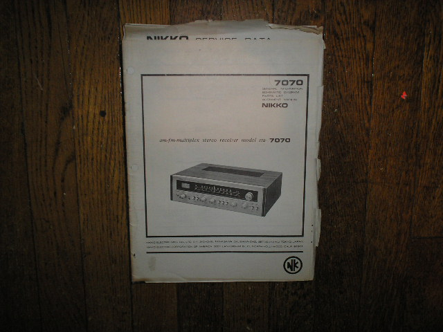 STA-7070 AM FM STEREO RECEIVER Service Manual  NIKKO