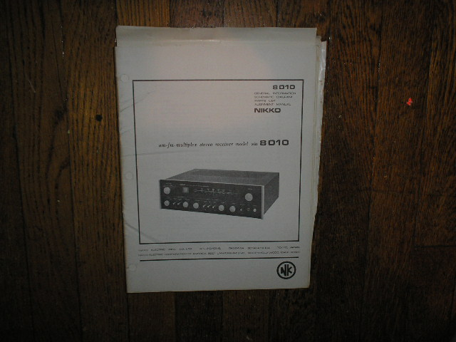 STA-8010 AM FM STEREO RECEIVER Service Manual  NIKKO
