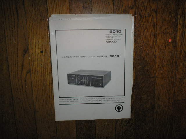 STA-9010 AM FM STEREO RECEIVER Service Manual  NIKKO