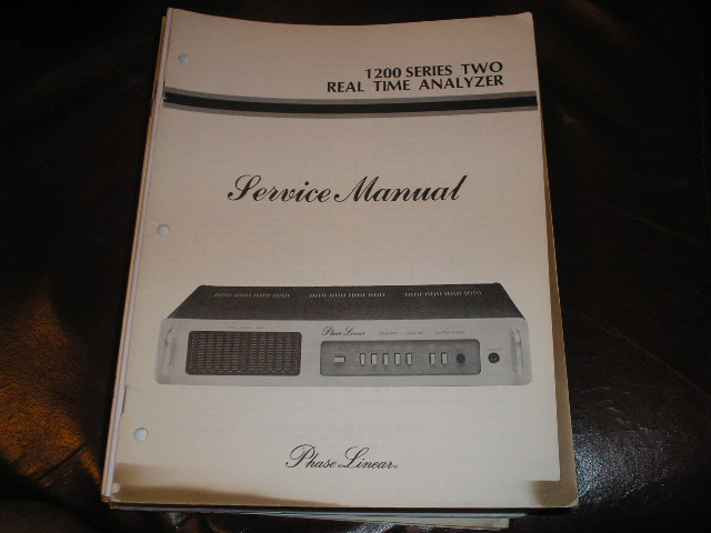1200 Series Two 2 Real Time Analyzer Service Manual