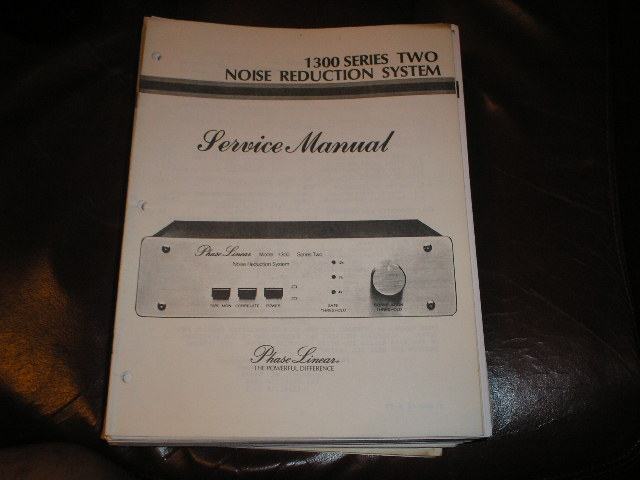 1300 Series Two 2 Noise Reduction System Service Manual