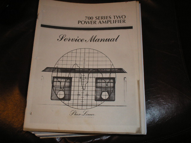 700 Series Two 2 Power Amplifier Service Manual