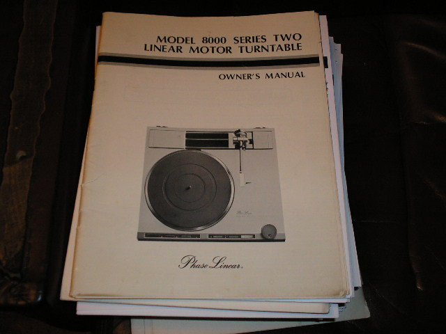 8000 TURNTABLE Owners Manual  Phase Linear