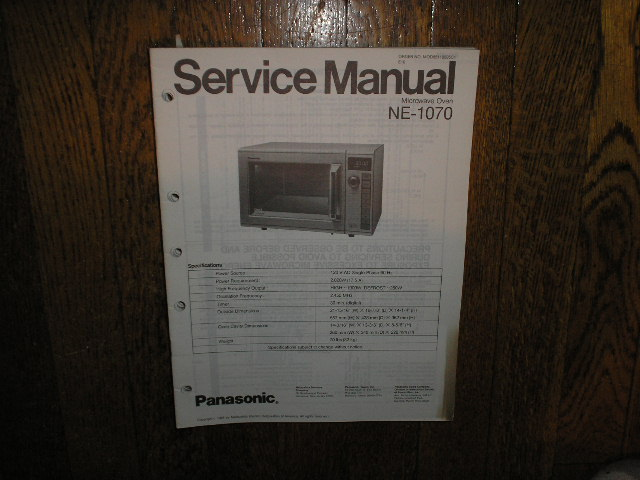 NE-1070 Microwave Oven Service Repair Manual