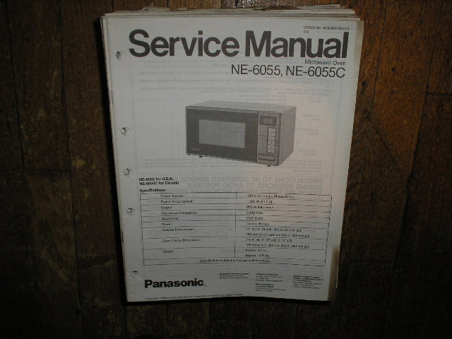 Panasonic Ne 9870 Microwave Convection Oven User Manual