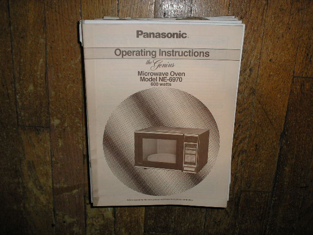 NE-6970 Microwave Oven Operating Instruction Manual