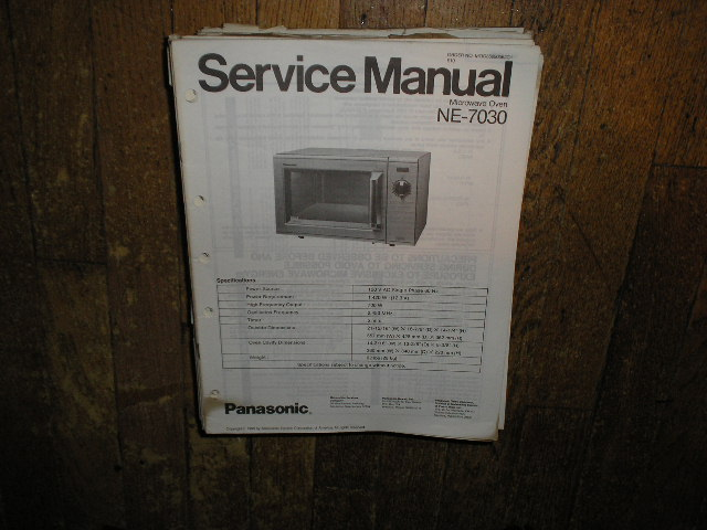NE-7030 Microwave Oven Service Repair Manual