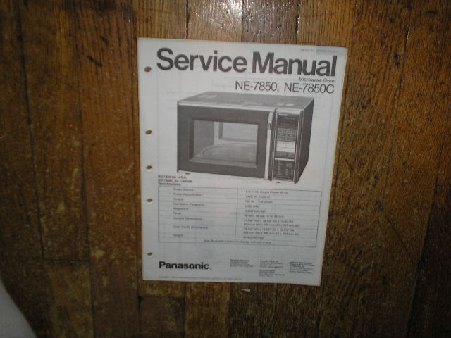 NE-7850 NE-7850C Microwave Oven Service Repair Manual
