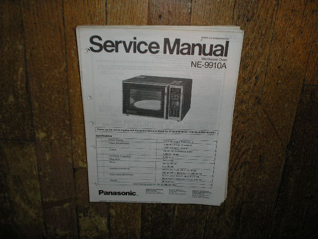 NE-9910A Microwave Oven Service Repair Manual