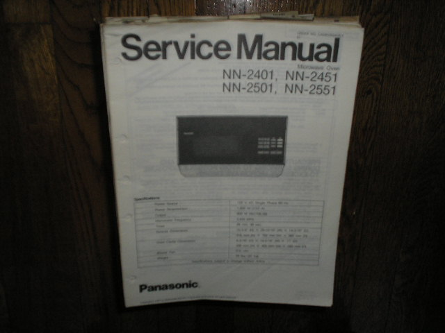 NN-2401 NN-2451 NN-2501 NN-2551 Microwave Oven Service Repair Manual