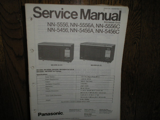 Panasonic Nn 5456 Nn 5456a Nn 5456c Nn 5556 Nn 5556a Nn