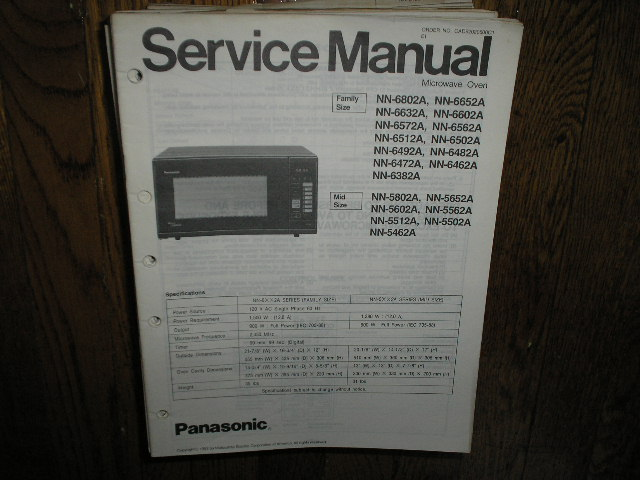 Panasonic Nn A Nn A Nn A Nn A Nn A A Nn A Nn A Nn A Nn A Nn A Nn A Nn Microwave Oven Service Repair Manual on Zenith Tv Manuals