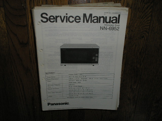 NN-6952 Microwave Oven Service Manual